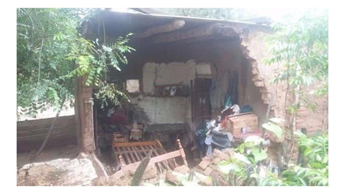 Así quedó la casa de la mujer que murió en Salta