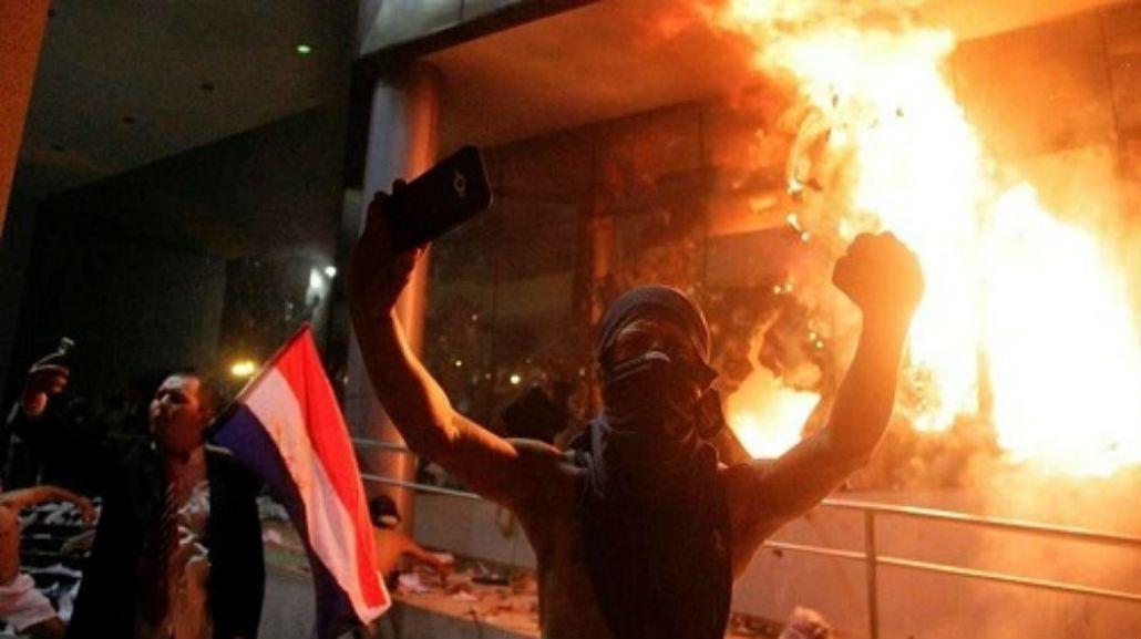 Así incendiaron el Congreso en Paraguay