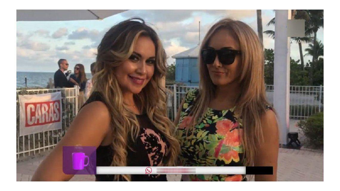 Ojeda y una amiga en Miami