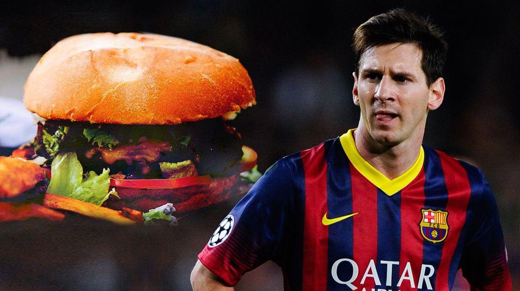 Messi ya tiene su hamburguesa