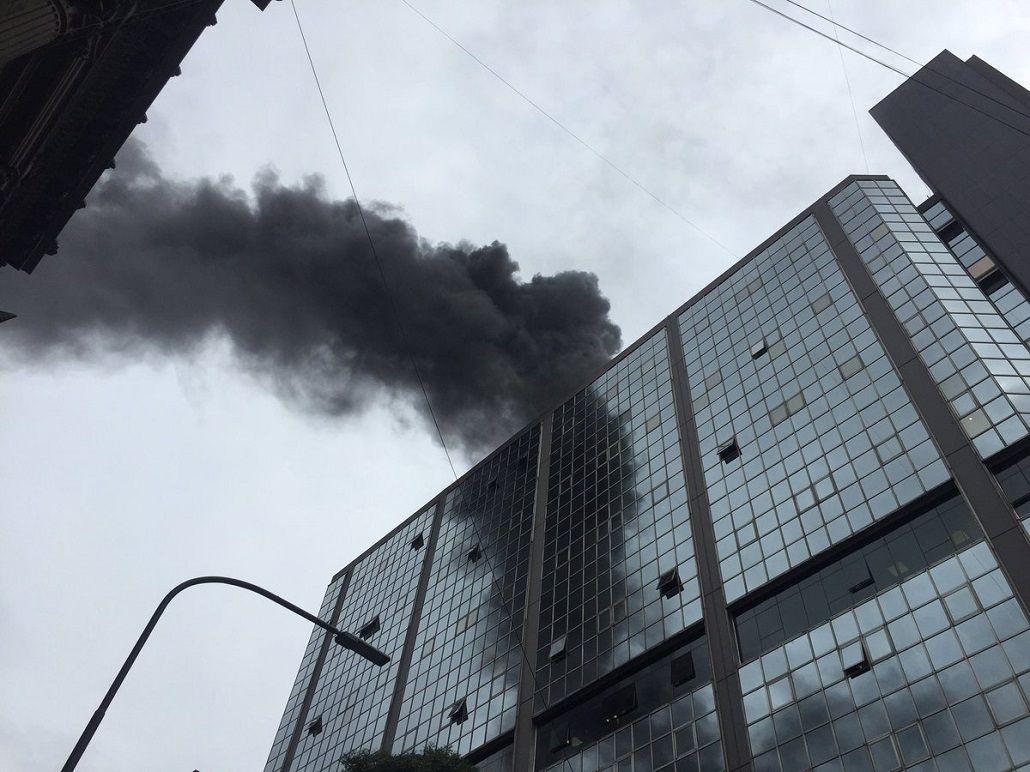 Se incendia el edificio anexo del Congreso