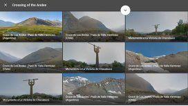 El cruce de Los Andes ya se puede hacer a través de Google Street View