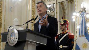 El presidente Mauricio Macri, en la Casa Rosada