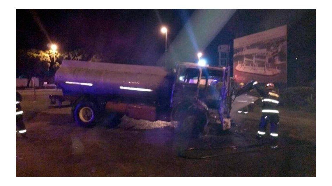 El camionero quedó detenido