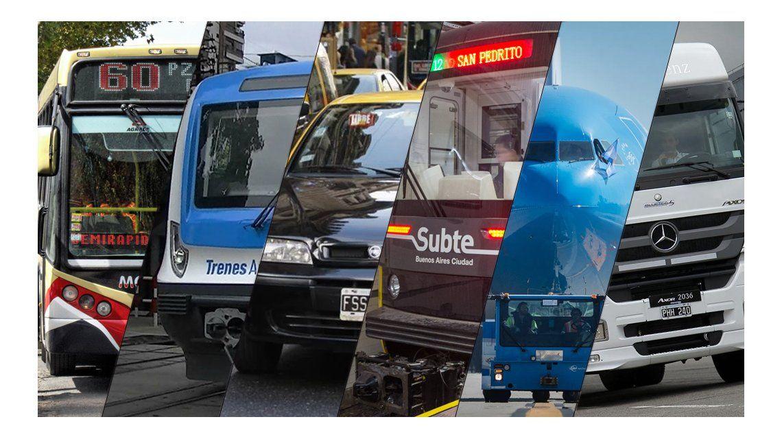 Gremios del transporte confirman adhesión total al paro de la CGT