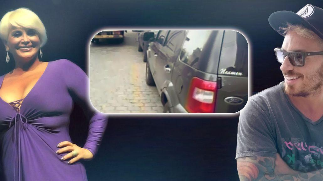 Fede Bal dejó el auto mal estacionado