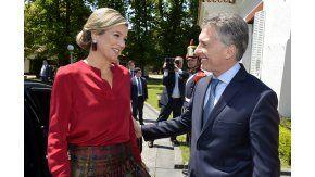 Macri se reúne este lunes con los reyes de Holanda