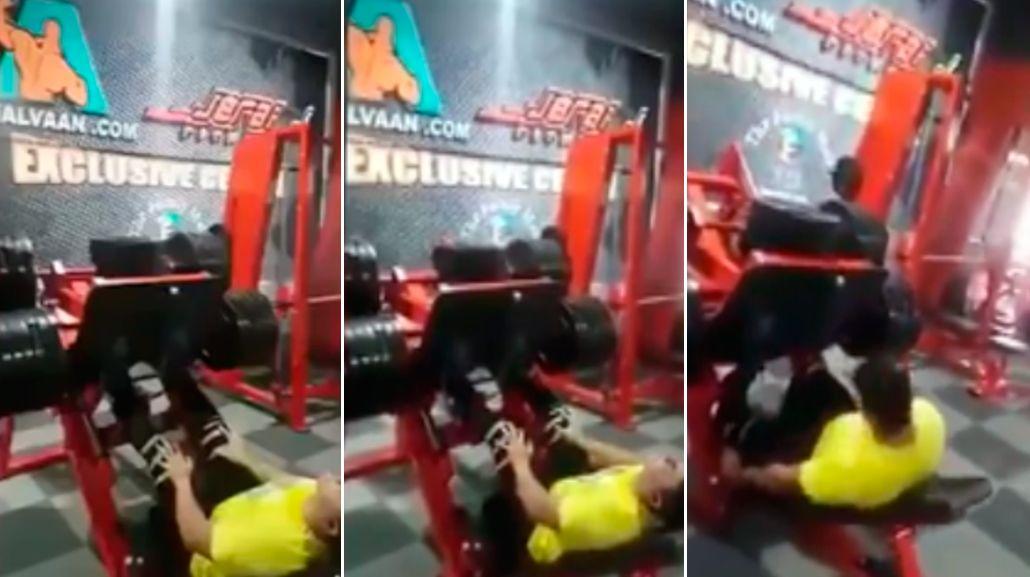 Un hombre terminó con su pierna fracturada mientras entrenaba