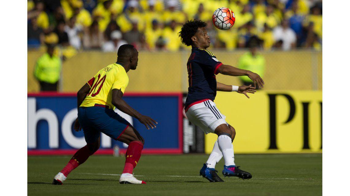 Cuadrado anotó el segundo para Colombia