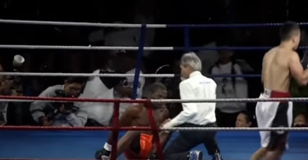 El boxeador no pudo recuperarse