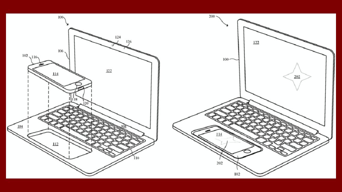 Apple presentó una patente donde el iPhone sería el corazón de una laptop