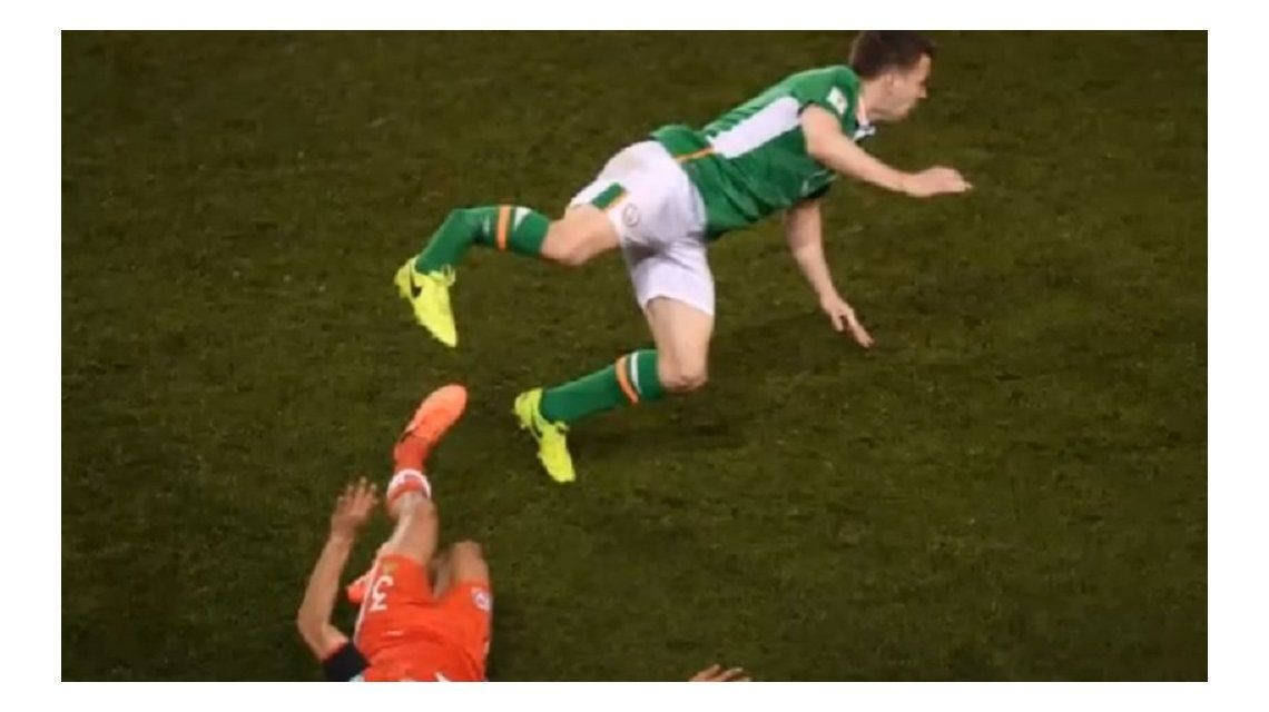 El momento de la terrible fractura de Coleman