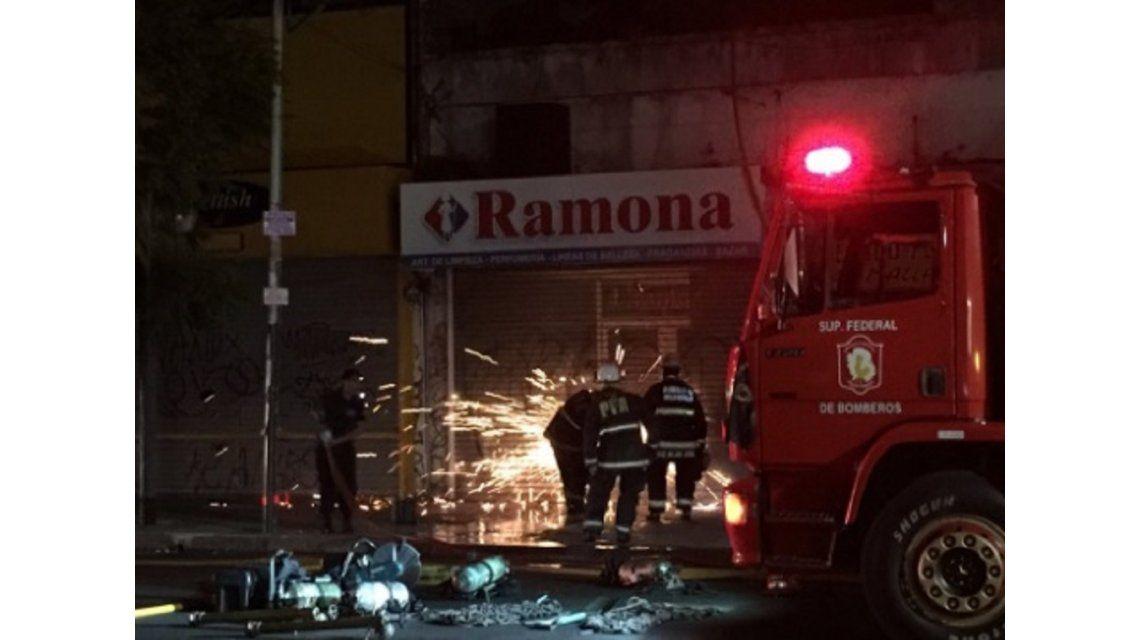Incendio en Lacroze y Ciudad de la Paz
