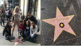 La falsa estrella de Vicky Xipolitakis en el Paseo de la Fama de Hollywood