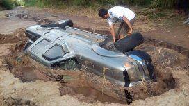 Vio un video del temporal y lo contactó por para restaurar su camioneta