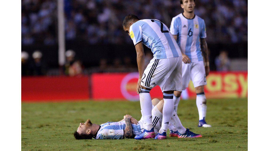 Diez fotos del 10 de la Selección, Lionel Messi, ante Chile
