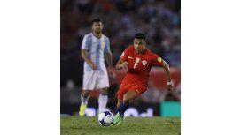 El delantero fue titular en la derrota ante Argentina en el Monumental