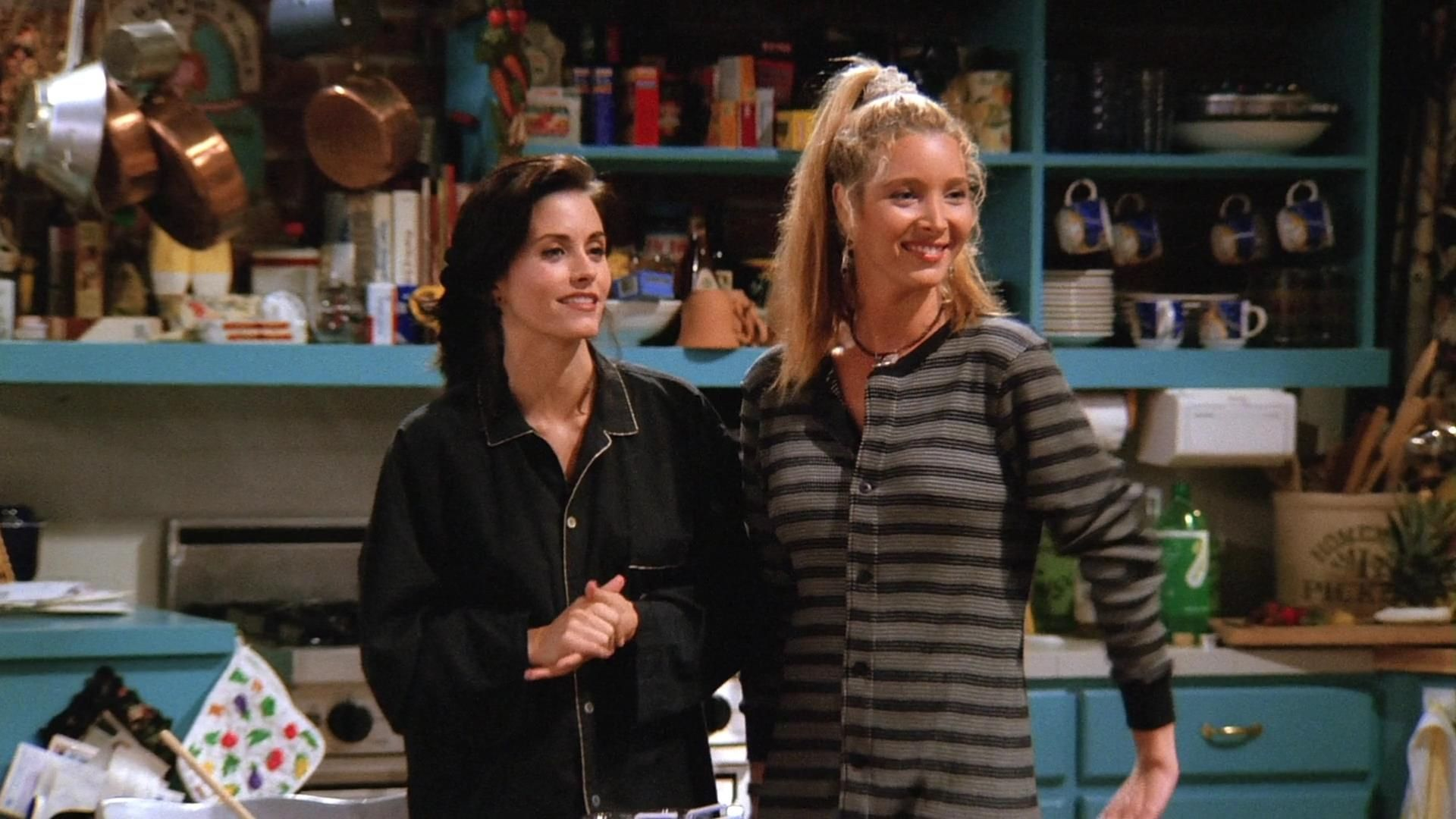 Monica Geller y Phoebe Buffay en Friends