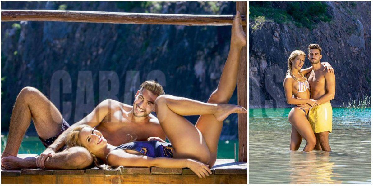 Flor Vigna y su novio. Foto: Caras.