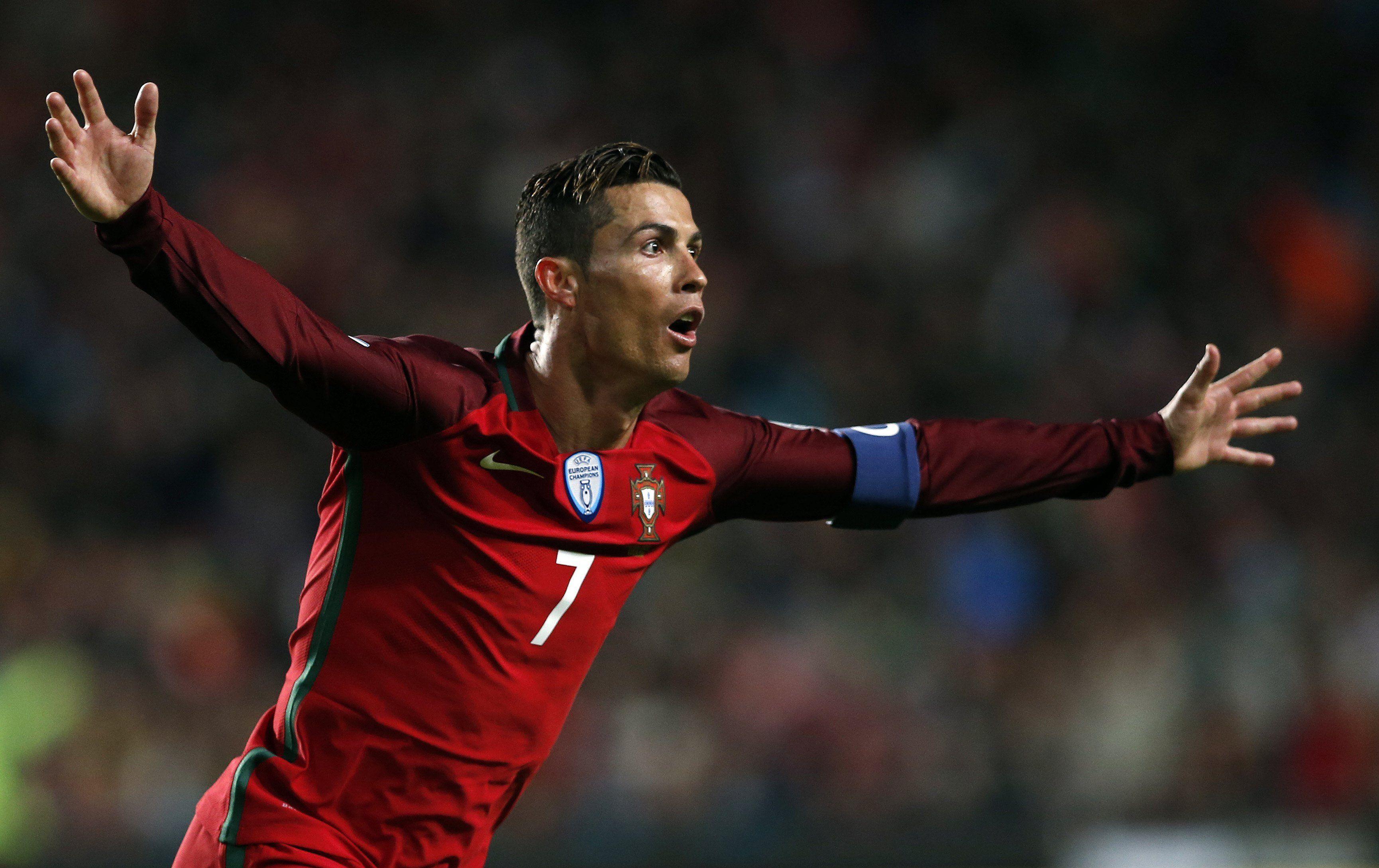 El festejo de Cristiano Ronaldo ante Hungría