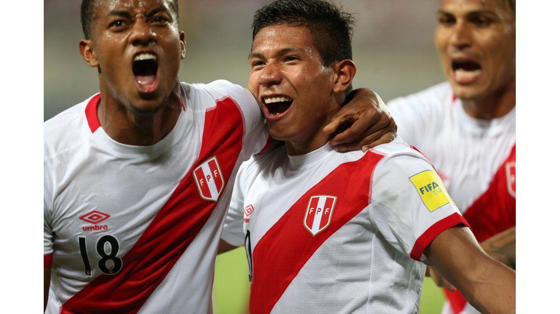 Así festejaba Edison Flores el gol del triunfo