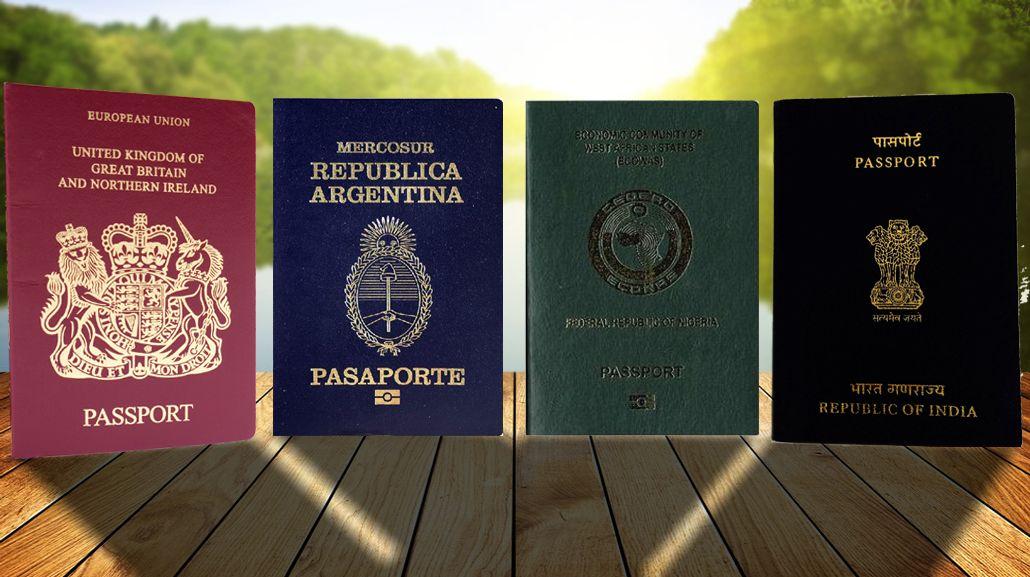 El significado de los colores que tienen los pasaportes