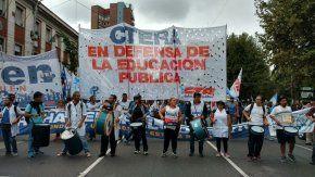 Avanzan las columnas de docentes por la Ciudad
