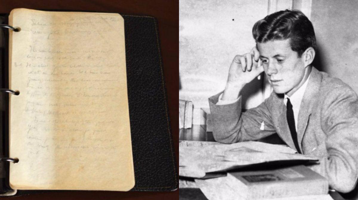 Las crónicas de guerra de JFK con su descripción de Hitler