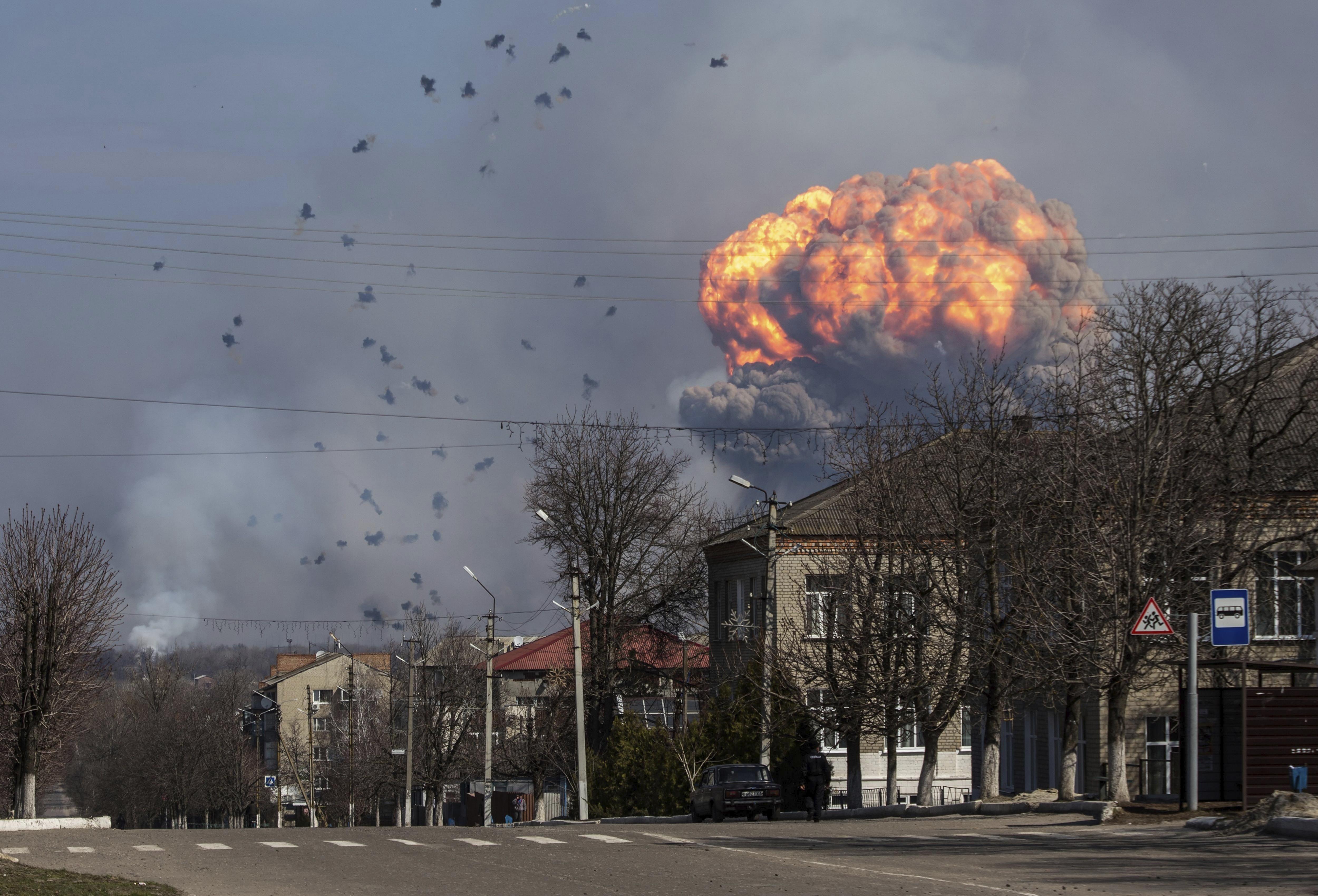 La increíble explosión en Ucrania