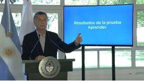 En medio del paro docente, Macri presentó los resultados de la prueba Aprender