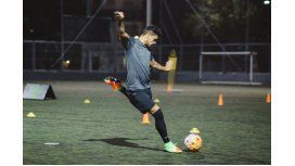 Gustavo Bou en una clínica de Nike
