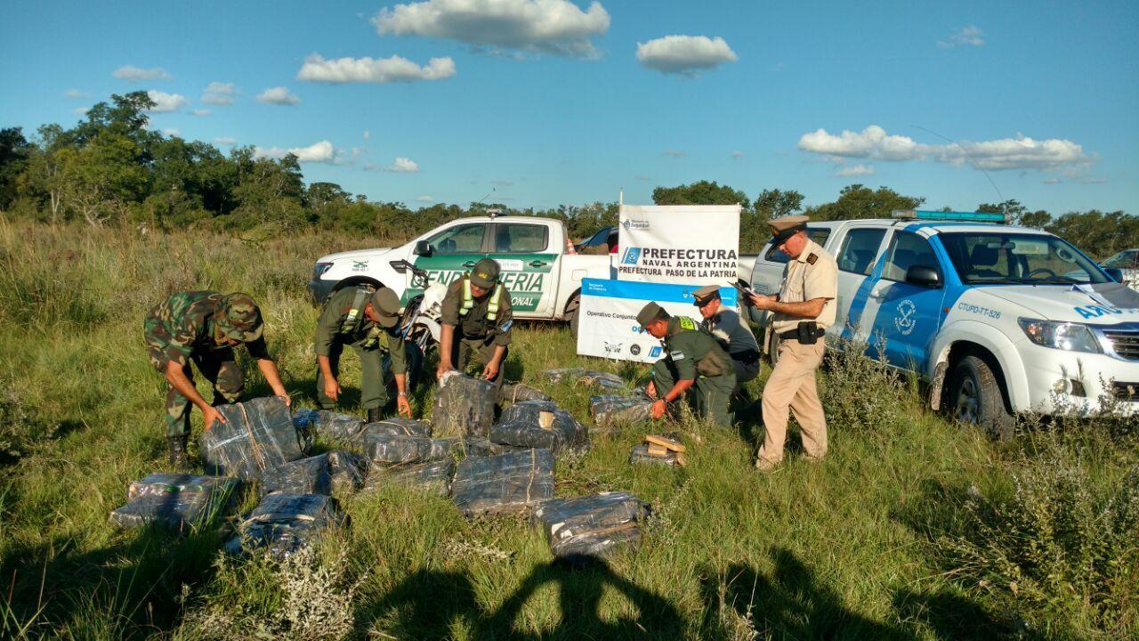 Incautaron 700 kilos de marihuana que se trasladaba a Itatí