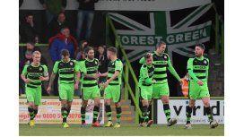 El Forest Green Rovers, durante un encuentro de la National League