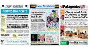 Tapas de diarios del viernes 17 de marzo de 2017