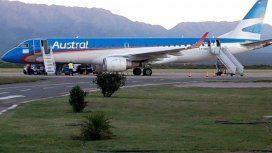 Avión varado en el aire