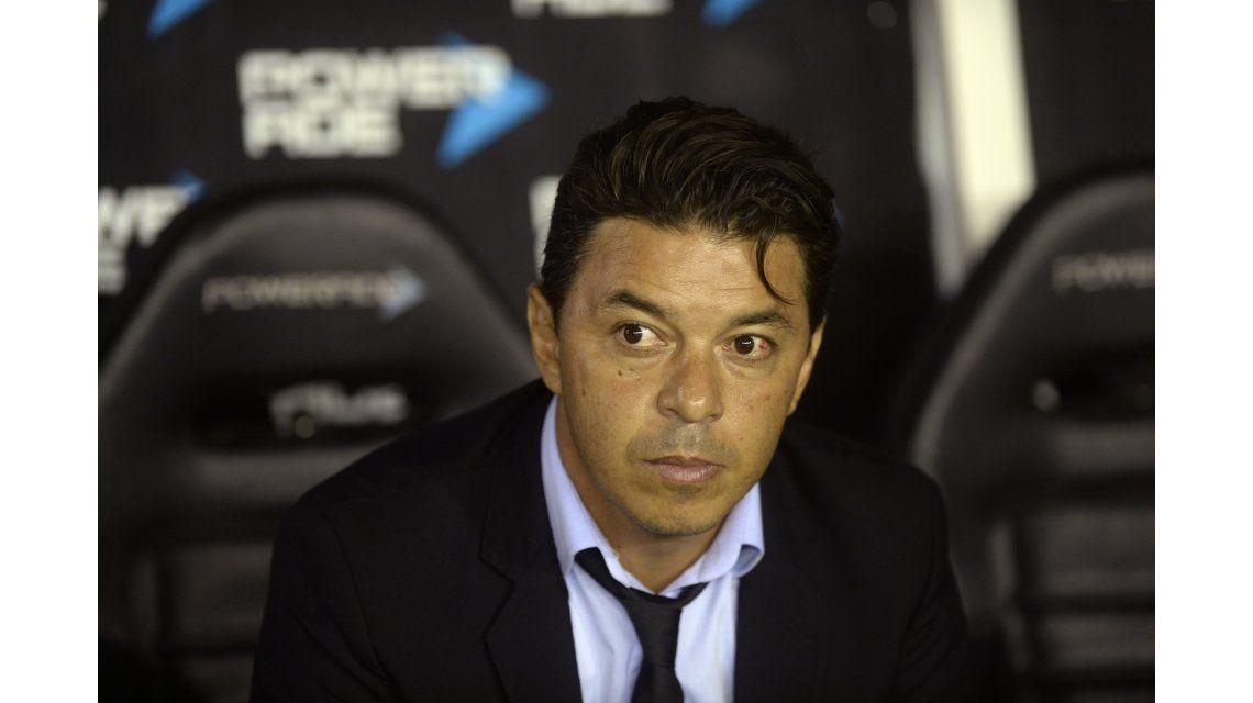 Marcelo Gallardo en el estadio de Lanús
