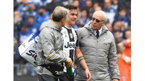 Paulo Dybala se retiró lesionado en la Juventus