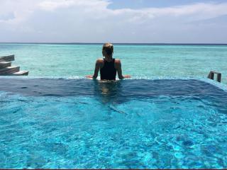Sofóa Zámolo, en las Islas Maldivas