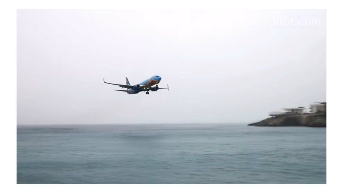 El piloto hizo una maniobra muy arriesgada