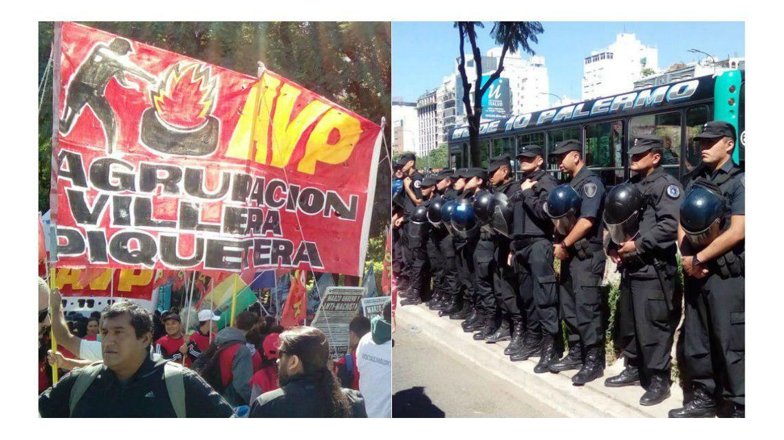 Organizaciones sociales volvieron a cortar 9 de julio y Belgrano