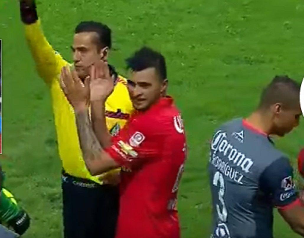 El argentino empujó al árbitro y lo terminó pagando muy caro
