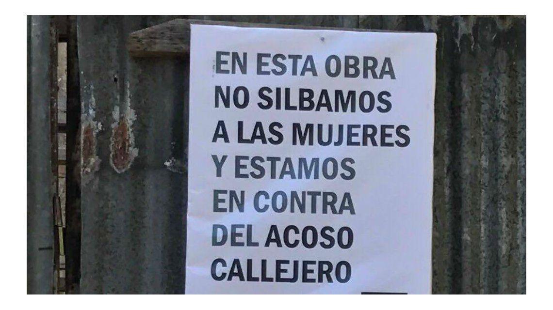 Este es el cartel contra el acoso