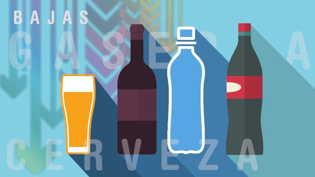 El consumo de bebidas tuvo una fuerte caída en el 2016
