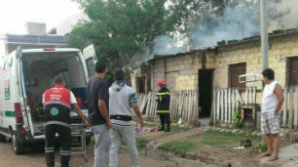 Esta es la casa que intentaron prender fuego