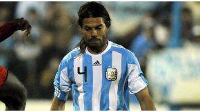El Chino Garcé, con la camiseta argentina