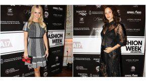Maglietti y Cami Cavallo en la presentación del Fashion Week