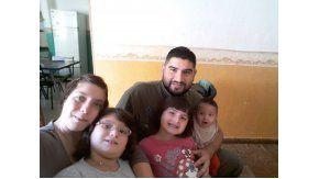 La familia Salgán, a pleno