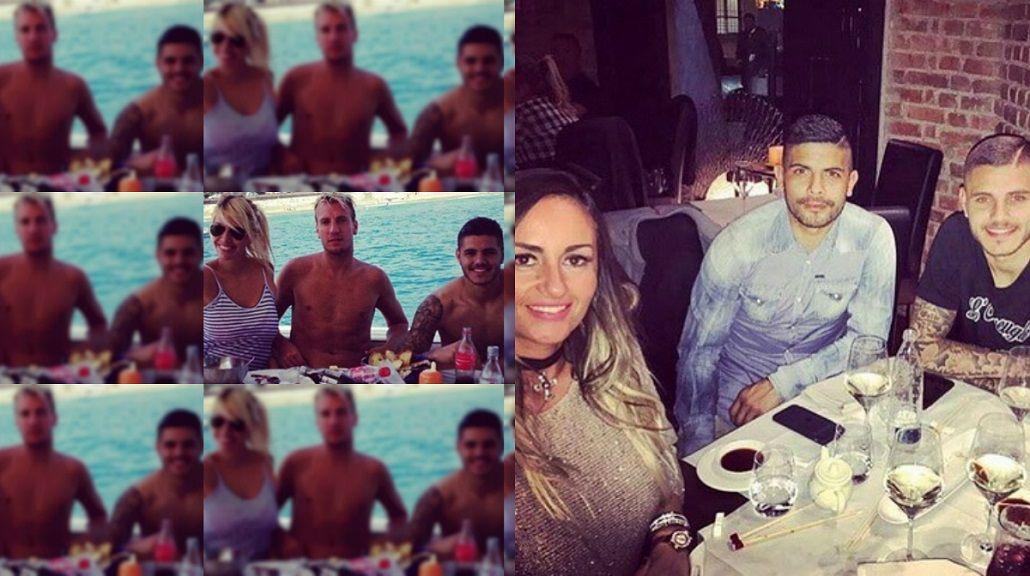 La foto de Mauro Icardi con Éver Banega y su mujer