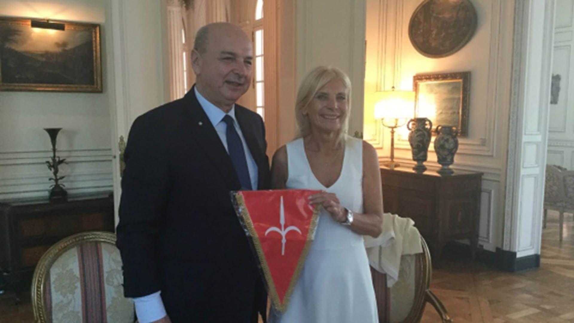 Roberto Dipiazza y Claudia DAtri