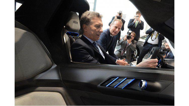 Mauricio Macri en la planta de Volkswagen de Alemania